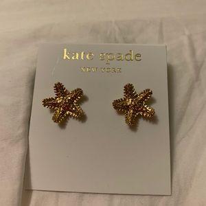 Brand new kate spade starfish earrings